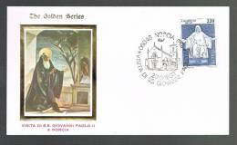 GIOVANNI PAOLO II - VISITA A NORCIA- ANNULLO SPECIALE  23.3.1980 - BUSTA - - Papi