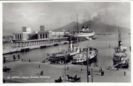 AK Napoli Neapel Ca. 1930 (?) Nuova Stazione Marittima / Hafen Piroscafo Dampfer Navi Schiffe Maritim - Napoli (Naples)