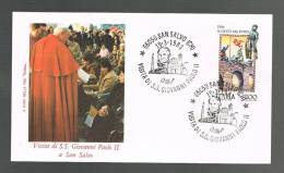 GIOVANNI PAOLO II - VISITA A SAN SALVO - ANNULLO SPECIALE  19.3.1983 - BUSTA - - Papi