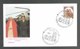 GIOVANNI PAOLO II - VISITA A RIETI - ANNULLO SPECIALE  2.1.1983 - BUSTA - - Papi