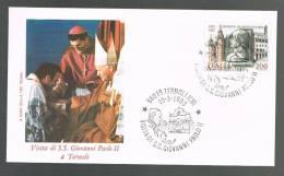 GIOVANNI PAOLO II - VISITA A TERMOLI - ANNULLO SPECIALE  19.3.1983 - BUSTA - - Papi