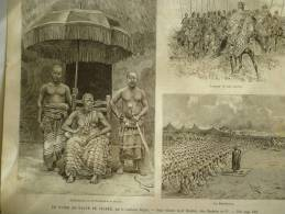 Du Niger Au Golfe De Guinée , Ardjoumani , Roi De Boudoukou , Loukary Et Son Escorte, Gravure Daprés Dessin De Riou 1891 - Documents Historiques