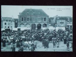Ploeuc , La Place Un Jour De Foire , La Mairie - France