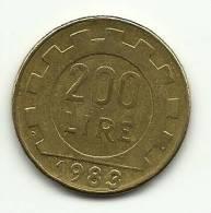 1983 - Italia 200 Lire, - 1946-… : Repubblica