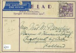 LUCHTPOST * NEDERLANDS-INDIE * HANDGESCHREVEN POSTBLAD Uit 1936 Van GAROET Naar OEGSTGEEST (6751) - Niederländisch-Indien
