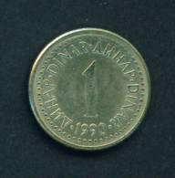 YUGOSLAVIA  -  1990  1 Dinar  Circulated As Scan - Yugoslavia