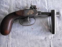 Pistolet Coup Poing Double St Etienne Canon Devissables Bon Fonctionnement Poinçons - Andere