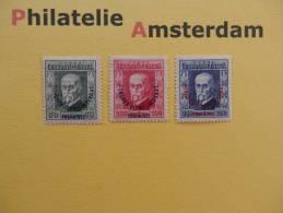 Czechoslovakia 1925, CONGRES OLYMPIQUE INTERNATIONAL PRAHA 1925: Mi 209-11, Y&T 203-05, * - Unused Stamps