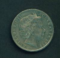 AUSTRALIA  -  1999  20 Cents  Circulated As Scan - Decimal Coinage (1966-...)