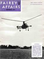FAIREY AFFAIRS - September 1948 - Avions, Bateaux , Hélicoptère GYRODYNE FAIREY - (SONACA)       (2889) - Revistas & Periódicos