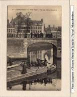 CPA : DUNKERQUE : 31 Le Pont Royal Passage D´une Belandre   Peniche - Dunkerque