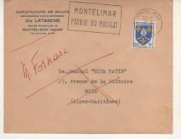 FLAMME DE MONTELIMAR - DROME - NOUGAT 1956 - Postmark Collection (Covers)