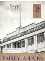 FAIREY AFFAIRS - Visit Of H.R.H. Duke Of Edinburgh - Avions  FAIREY - (SONACA)         (2893) - Revistas & Periódicos