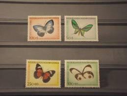 GUINEA OLANDESE - 1960 FARFALLE 4 Valori - NUOVI(++)-TEMATICHE - Nuova Guinea Olandese