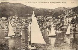 Monaco -monte Carlo  -ref D655- La Condamine Et Le Port Pendant Les Regates -regate Voiliers-voilier   -carte Bon Etat - - Non Classés