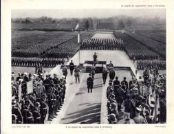Gravure 27 X 21  - Un Congrès Des Organisations Nazies à NUREMBERG - Livres, Revues & Catalogues