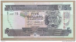 Is. Salomone - Banconota Non Circolata Da 5 Dollari - 2005 - Isola Salomon