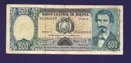 BOLIVIA 1981,  Banknote  ,Used VF , 500 Pesos Bolivianos,  Km165 - Bolivië