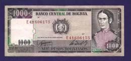 BOLIVIA 1982,  Banknote  ,Used VF , 1000 Pesos Bolivianos,  Km167, - Bolivië