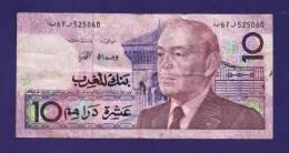 MOROCCO,  Banknote  ,Used VF, 10 Dirhams - Morocco