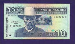 NAMIBIA ,  Banknote  ,Used VF, 10 Dollar - Namibië