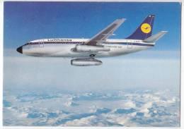 TRANSPORT AIRPLANES B 737 CITY JET LUFTHANSA GERMANY BIG POSTCARD 1997. - 1946-....: Moderne