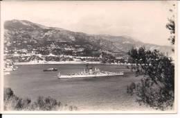 Photo Croiseur Uss Newport No 148 Us Navy Rade De Villefranche Sur Mer - Bateaux