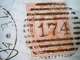 1880 Umberto I Lettera Da FIRENZE Timbro  Flli SPERANZA  20 C T  Annullo Numerale 174  Retro BOLOGNA Ditretto 28  EB9348 - 1878-00 Umberto I