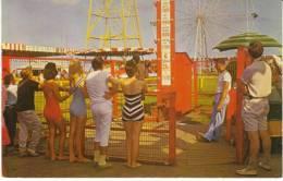 Ocean View VA Virginia, Amusement Park, Strong Man Game, Bathing Suits Fashion, C1950s/60s Vintage Postcard - United States