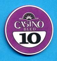 SLOVENIA, CASINO TOKEN, JETON, Casino Bled, Pre 1999, Rare 10  ATS Face Value - Casino