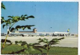 TRANSPORT AERODROMES MUNCHEN GERMANY BIG POSTCARD 1976. - Aerodrome