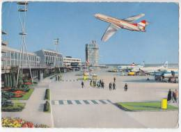 TRANSPORT AERODROMES SCHWECHAT WIEN AUSTRIA BIG POSTCARD 1965. - Aerodrome