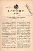 Original Patentschrift - Verschluß Für Korsett Und Taille , 1896 , R. Kammin In Charlottenburg , Corset !!! - Vor 1900