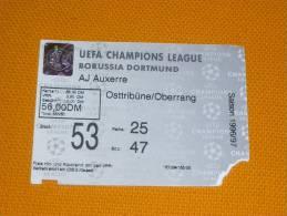 Borussia Dortmund-AJ Auxerre/Football/UEFA Champions League Match Ticket - Tickets D'entrée