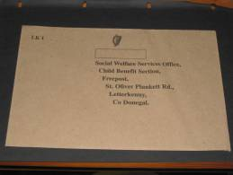 Brief Cover Ireland Irland Ungebraucht Unused Freepost Letterkenny Co. Donegal Social Welfare Services - Covers & Documents