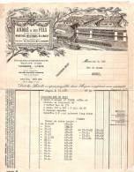 Facture/André Et Fils /Industrie Artistique De L'Ouest/Meubles/ANGERS/ 1932            FACT27 - Sport En Toerisme