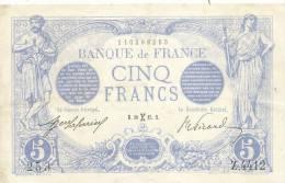 BILLET 5 FRANCS TYPE BLEU 20 FEVRIER 1915 ALPHABET Z.4412  ETAT: SUP - 1871-1952 Circulated During XXth