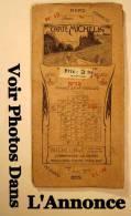 1920 1923 Ancien CARTE Routière MICHELIN N° 12 Publicité Papier GUIDE Automobile FRANCE En 48 Feuilles - Callejero