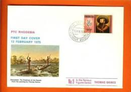 RHODESIA 1975 Mint FDC Thomas Bains 159 - Rhodesia (1964-1980)