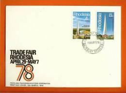 RHODESIA 1978 FDC Trade Fair 204-205 - Rhodesia (1964-1980)
