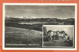C0212  Gottschalkenberg, Kanton Zug , Kurhaus, Cachet Alosen 1933,Oetiker 1304 - ZG Zoug