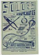 Pub-PARIS 17ème-Ets AUTO-ACCESSOIRES--1931--Tarif N° 211-Vieilles Voitures-- Superbe état - Autres