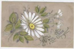 """Carte Celluloïde  Peinte  - """" A Mon Amie""""       Marguerite   /  1440 - Cartes Postales"""