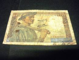 "FRANCE 10 Francs ""mineur"" 25/03/1943, Pick 99 E, FRANCIA FRENCH NOTE - 1871-1952 Gedurende De XXste In Omloop"