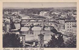 Italy Firenze Veduta dei Lung Arni coi Ponti