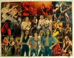 Musik Poster  Gruppe Status Quo  -  Rückseitig : Jürgen Drews  -  Von Bravo Ca. 1982 - Plakate & Poster