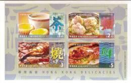Hong Kong 2012 Delicacies Food Stamps S/s Gourmet Tea Cake Wheat Foodstuff - Drinks