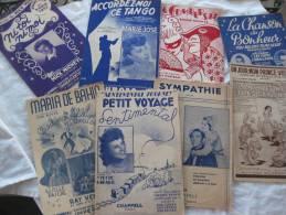 20 PARTITONS CHANSON DIVERSE DES ANNEE 1900 A 1950 - Song Books