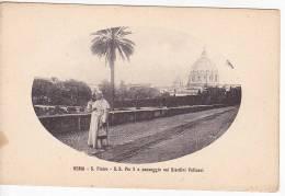Roma Passeggio Nei Giardini Vaticani Pio X Ca1900 Vintage Original Postcard Cpa Ak (W3_877) - Papas