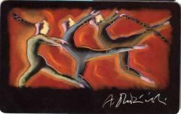 Telefonkarte 12 DM Telekom Deutsche Bundespost : Team Olympia 1992 - Germany